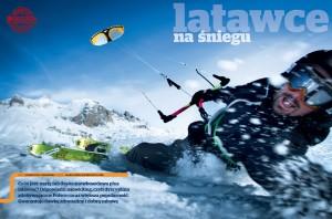 Kites on snow (Latawce na śniegu). Rider: Matthias Charton